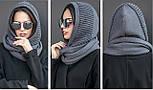 Жіночий шарф-хомут (шапка-капор) (5 кольорів), фото 5