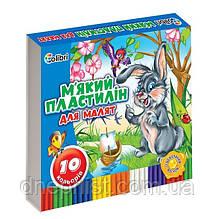 "Пластилин мягкий ""Кроха"" 10 цв., 200 г, с воском / ""Colibri"" Мицар"