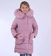 Зимнее пальто KIKO 4568 на девочку размеры 110,116