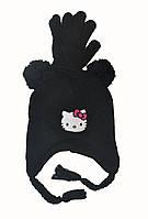 Набор шапка и перчатки осенние для девочки