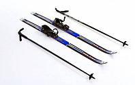 Лыжи беговые с палками синие 110 см ZEL