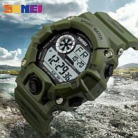 Часы водонепроницаемые 5 АТМ Skmei 1019 Green (Original 100%)., фото 1