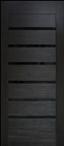 Двери межкомнатные Лагуна ПВХ   с черным стеклом
