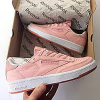 Розовые женские кроссовки рибок, кроссовки Reebok