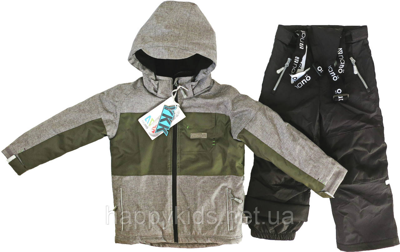 Зимний комплект для мальчика NANO F17 M 263 Mid Grey Mix / Black. Размеры 2 - 12.