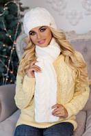 Комплект «Камелия» (шапка и шарф) 4363-10 белый