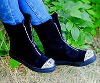 Женские ботинки-полусапожки верх натуральная кожа/замша весна-осень цвета разные Ko0045