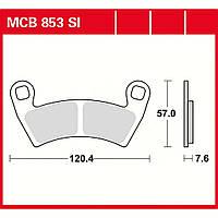 Тормозные колодки LUCAS MCB853SI