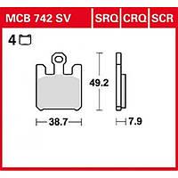 Тормозные колодки LUCAS MCB742SRQ
