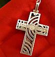 Крест мужской из серебра с деревом, фото 3
