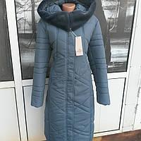 Зимнее женское  пальто с мутоном больших размеров