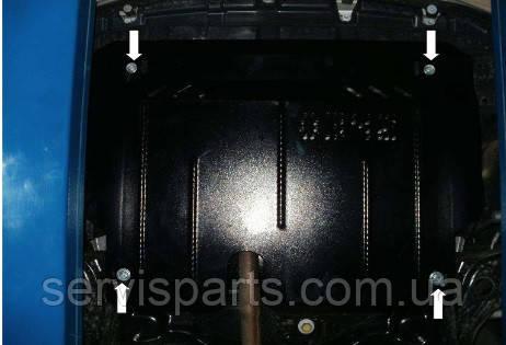 Защита двигателя Toyota Yaris 2011- (Тойота Ярис 3)