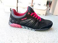 Кроссовки черные мужские кожаные adidas 40 -45 р-р, фото 1