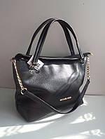 Стильная женская сумка реплика Michael Kors черная белая