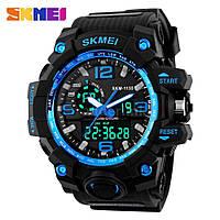 Годинник водонепроникний 5 АТМ Skmei 1155 black/blue (Original 100%)., фото 1
