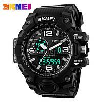 Часы водонепроницаемые 5 АТМ Skmei 1155 black/white (Original 100%)., фото 1