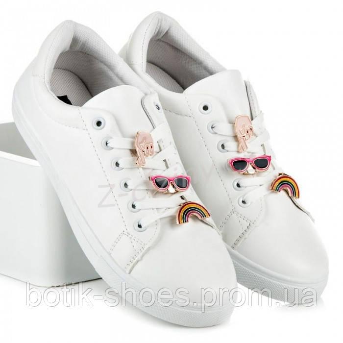 11b90c256 Новинка Женские польские модные белые кроссовки кеды экокожа Vices 8222