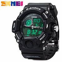Часы водонепроницаемые 5 АТМ Skmei 1029 black (Original 100%).
