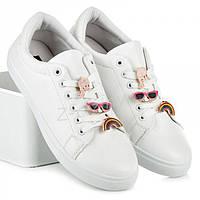 Женские польские модные белые молодежные кроссовки, кеды эко-кожа Vices