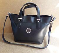Модная женская сумка черная Philipp Plein
