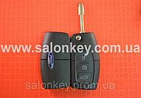 Ключ Ford mondeo, focus выкидной 3 кнопки 433MHz чип 4D лезвие FO21 Вид Банан