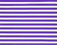 Подарочная бумага (упаковочная) насыщенного фиолетового (сиреневого) цвета в белую полоску