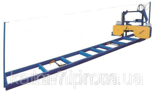 Стрічкова горизонтальна ручна пилорама ПЛП-МУ продуктивність 5 кубометрів за зміну