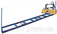 Ленточная горизонтальная ручная пилорама ПЛП-М производительность 5 кубометров за смену