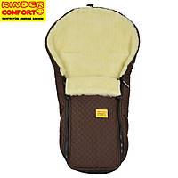Конверт на овчине Kinder Comfort Warm Fashion Dunkle Schokolade