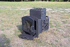 """Дровяная печь для парной """"Каменка с выносом, со стеклом"""", 8мм, фото 3"""