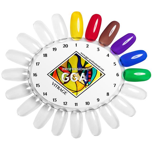 Витражный гель лак GGA Professional 15 мл