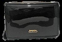 Стильный женский лаковый кошелек BАLISА черного цвета WLA-000809, фото 1