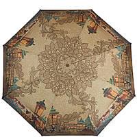 Зонт полуавтомат, антиветер для женщин ZEST (ЗЕСТ) Z24665-4062, бежевый/коричневый