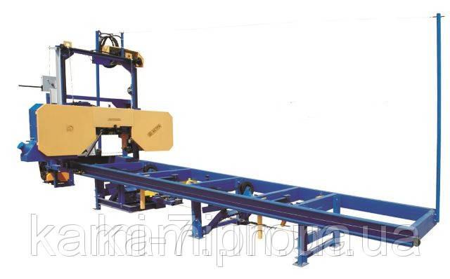 Автоматична стрічкова пилорама горизонтальна ПЛП-ЄС+ продуктивність до 20 метрів кубічних