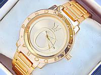 Женские часы Pandora c буквой О на циферблате, золотые