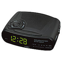 Электронные радио-часы с будильником vst-906-2 – утренний подъём с любимой радиостанцией, 220в, 2хааа
