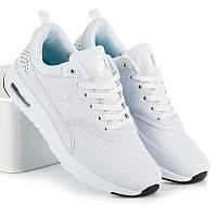 Женские стильные удобные белые кроссовки эко-кожа Rapter
