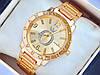 Кварцевые наручные часы Pandora c буквой О в стразах, золотые