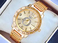 Кварцевые наручные часы Pandora c буквой О в стразах, золотые, фото 1