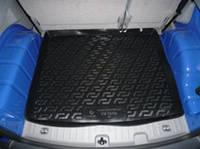 Коврик багажника (корыто)-полиуретановый, черный Volkswagen caddy (фольксваген кадди) 2004-2010