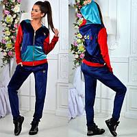 Спортивный костюм женский адидас бархат  №076