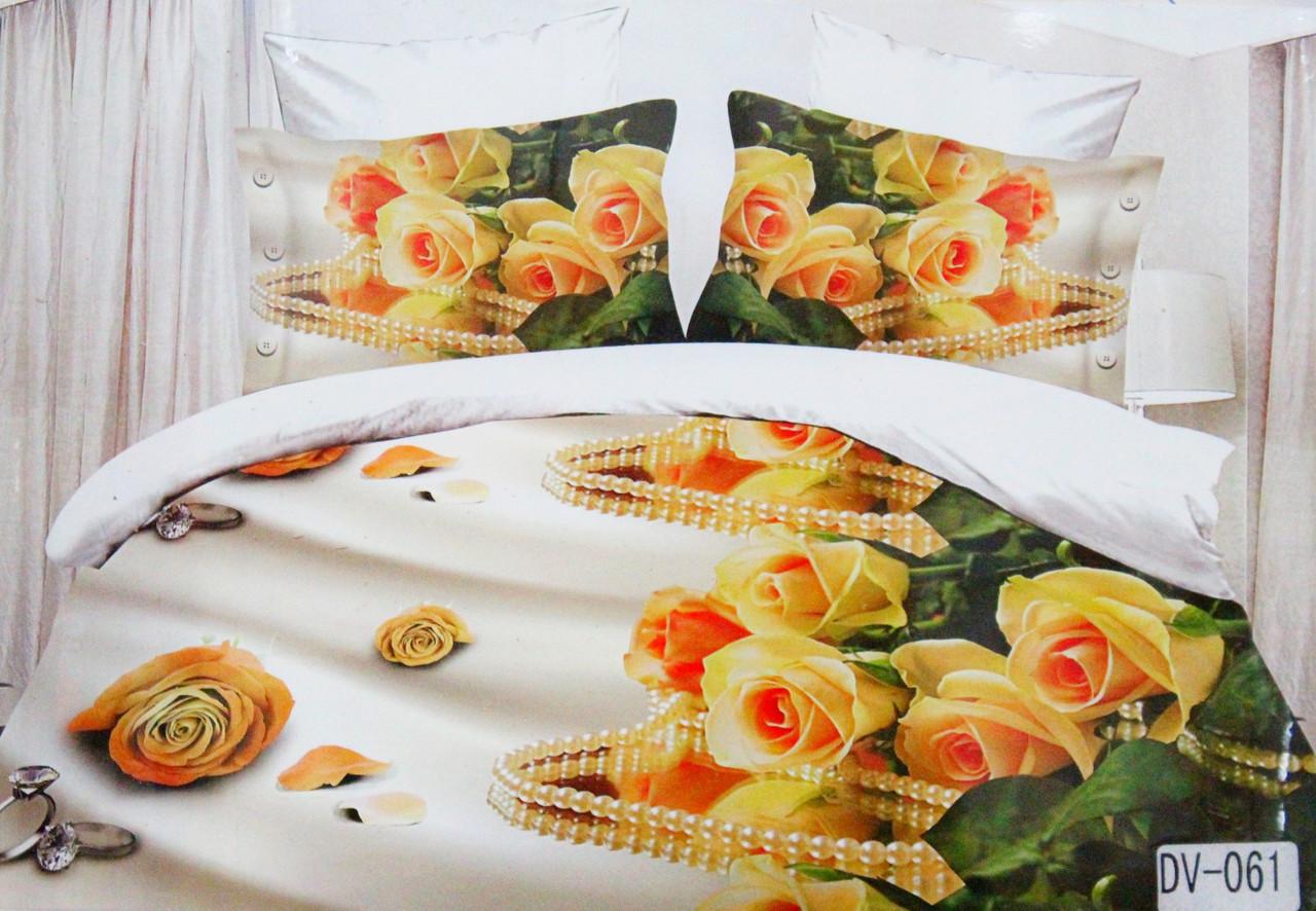 Красивое постельное бельё Florida 5D Sateen DV-061 Евро размер
