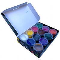 Гуашь ХУДОЖЕСТВЕННАЯ ЛЮКС КОЛОР (12 цветов/20ml) краски для рисования, фото 1
