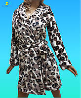 """Махровый женский короткий халатик размеров от 42 до 50 в интернет-магазине """"Сияние Луны"""""""