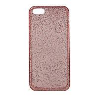 Чехол силиконовый перламутровый с блестками для iPhone 6 красный