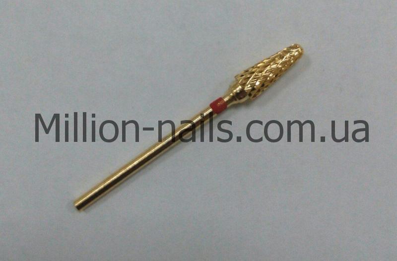 Насадка для фрезера, конус (кукурузка), цвет золото