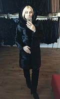 Женская шуба из нутрии черная