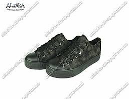 Подростковые кеды (Код: 659 черно-серый)