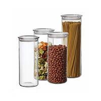 Набор банок для сыпучих продуктов с пластиковой крышкой Simax s183