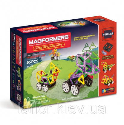 Магнитные конструкторы Magformers Зоо гонки 55 элементов